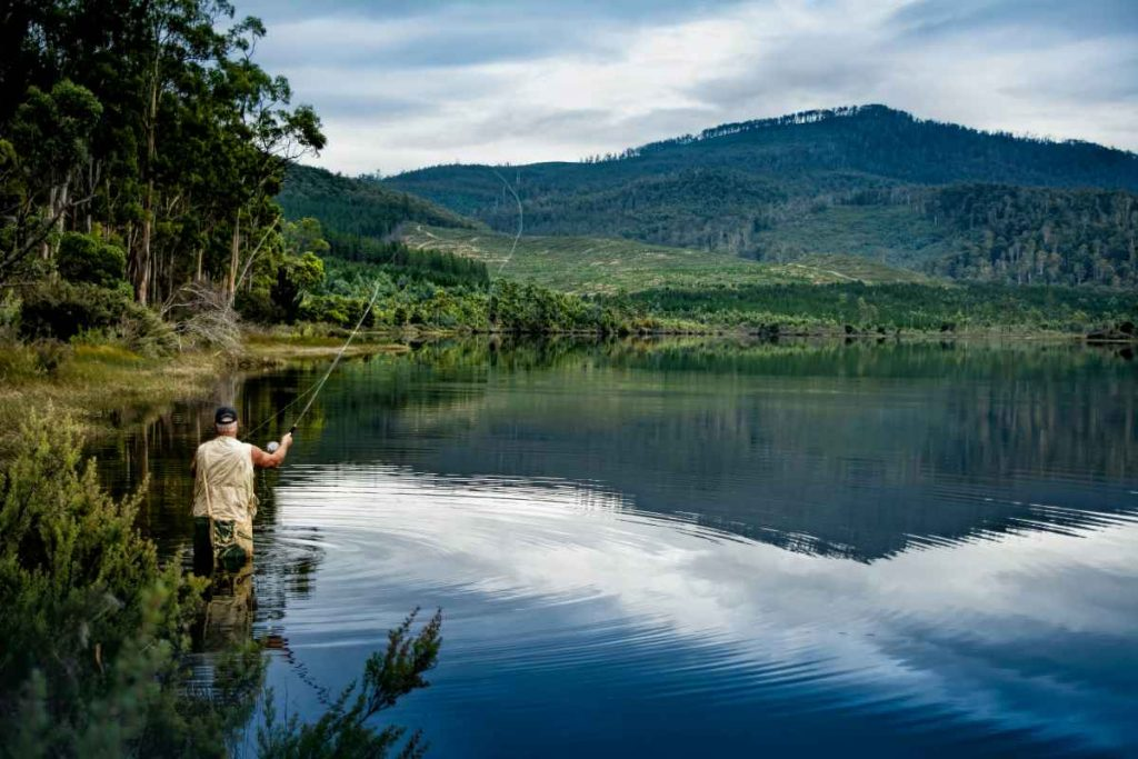 Wading and fly fishing
